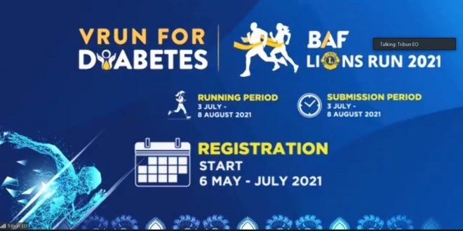 BAF Lions Run 2021, VRun for Diabetes Diresmikan Secara Virtual.